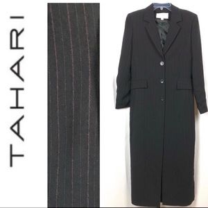 Tahari Maxi Jacket Blazer Coat
